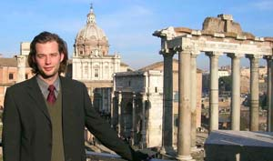 Founder Garrett in Rome Italy Italian Classes in Los Angeles for the Price of a Group Class